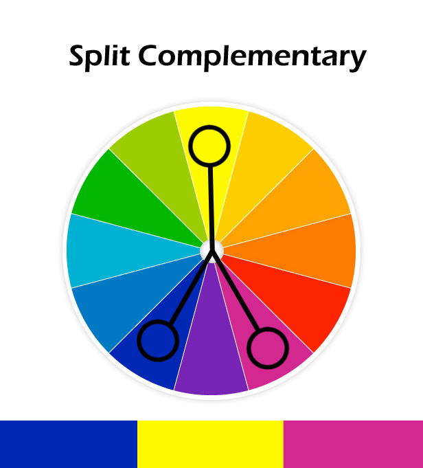 4 Split Complementary Colors